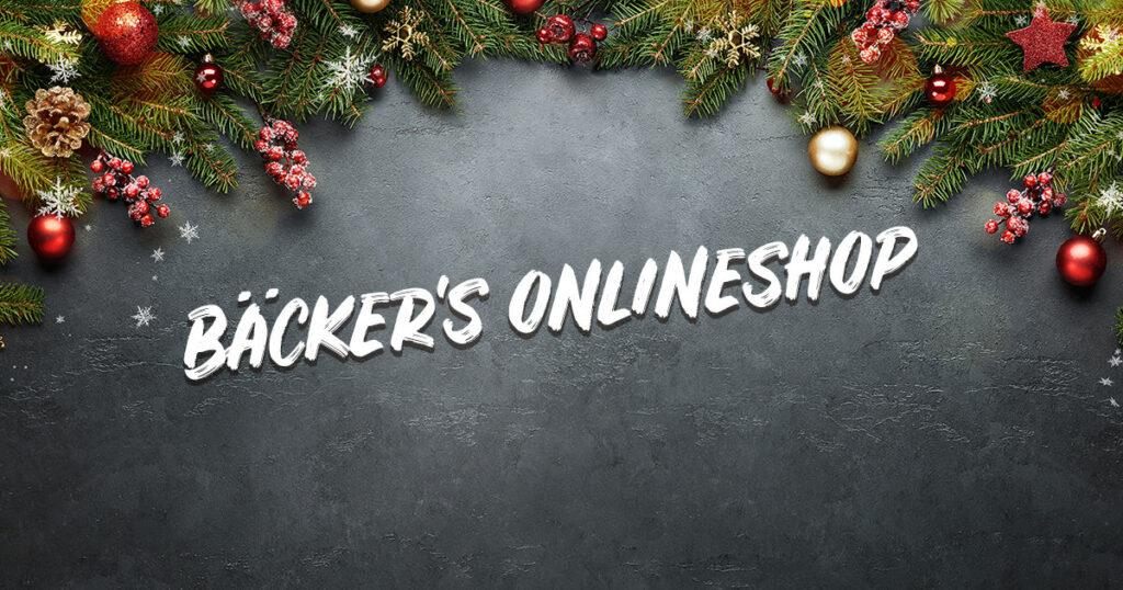 Bäcker's Onlineshop zu Weihnachten